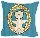 "Rikki Knight Northern Mariana Islands Flag on Distressed Wood Microfiber Throw Décor Pillow Cushion 16"" Square DOUBLE SIDED PRINT (Insert Included)"