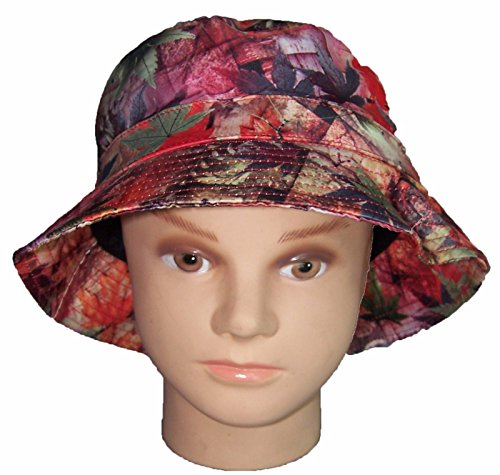 Marijuana  Cannabis FloppyHats Bucket Hats Burgundy