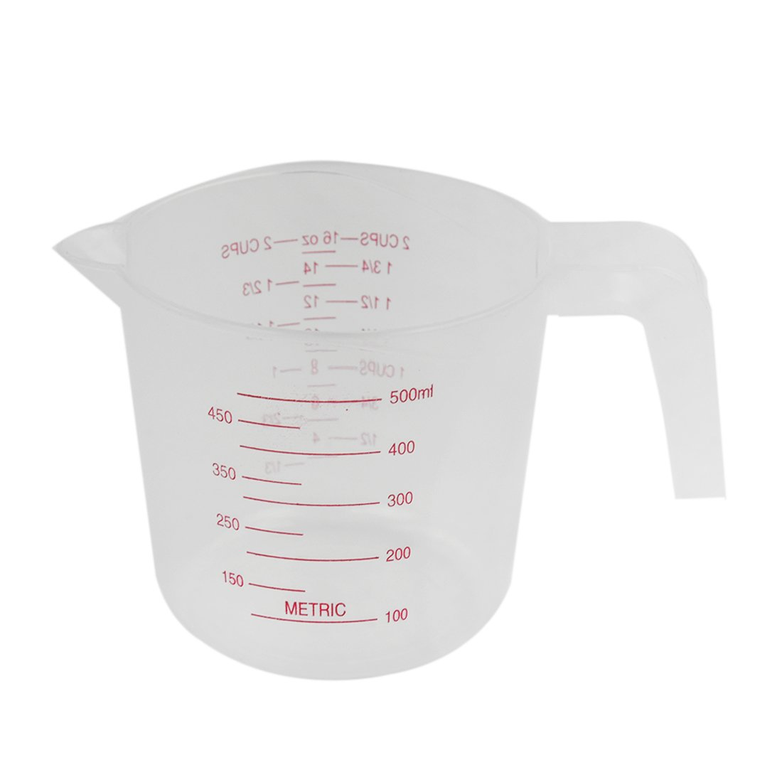 SODIAL 500ml Home Lab Measuring Jug Pitcher Plastic Handle Pour Spout Container