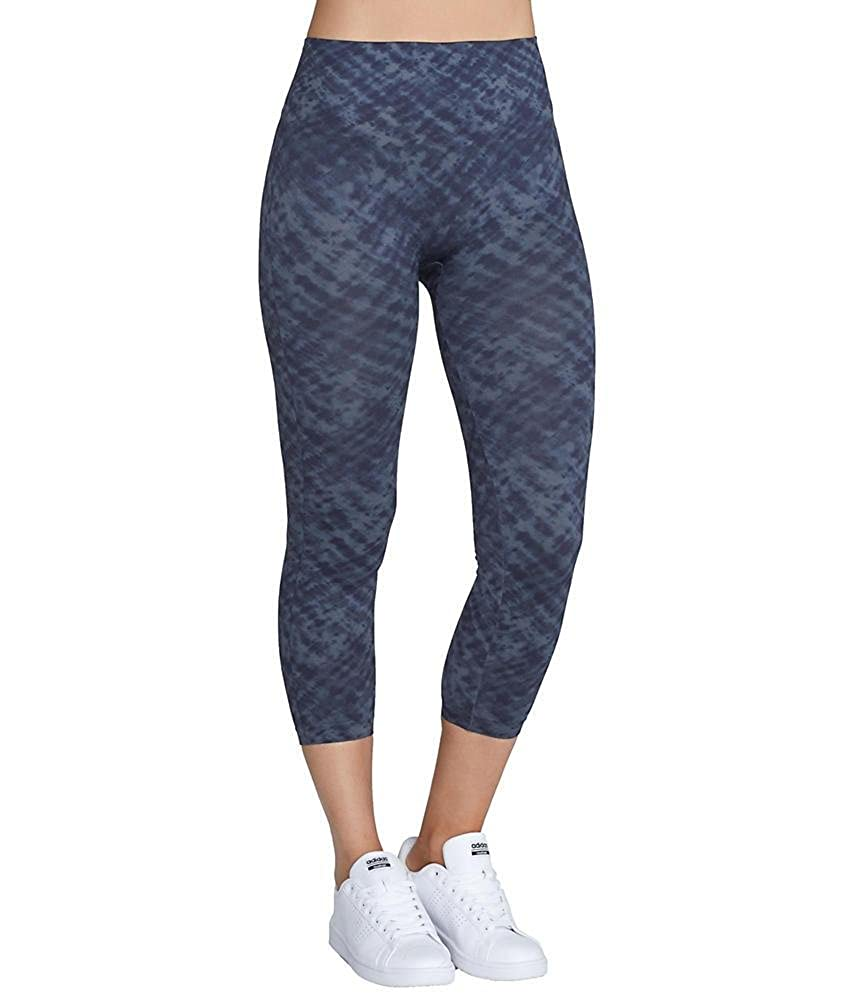 3df61f46f71c7 SPANX Look at Me Now Medium Control Cropped Leggings, L, Indigo Watercolor  at Amazon Women's Clothing store:
