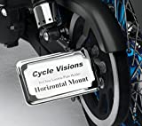 Cycle Visions In-Close Horizontal Slick Signal License Plate Frame and Holder - Chrome CV4601SH