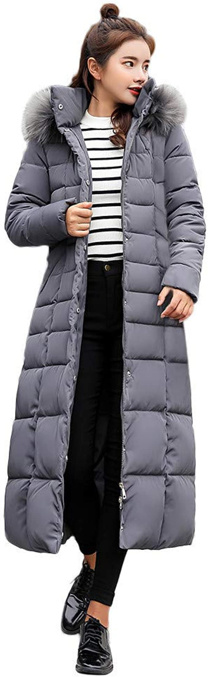 Casual Down Coat Womens Winter Loose Fitting Cocoon Merbau Short Sleeve Zipper Hooded Cape Down Coat With Pockets Winter Long Coat Jacket