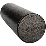 """REEHUT Foam Roller - (6""""x12"""" Round) Firm High Density Muscle Rollers with Free User E-Book"""