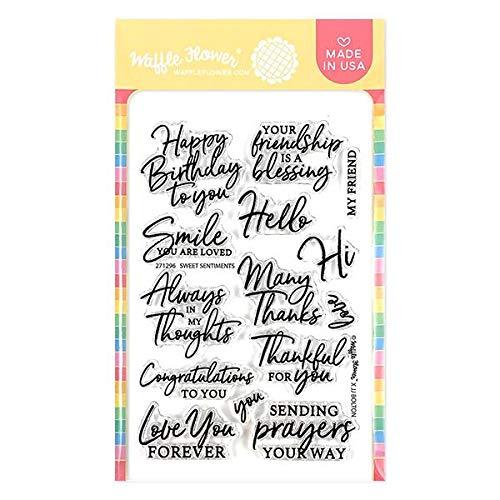 Waffle Flower Sweet Sentiments Stamp Set