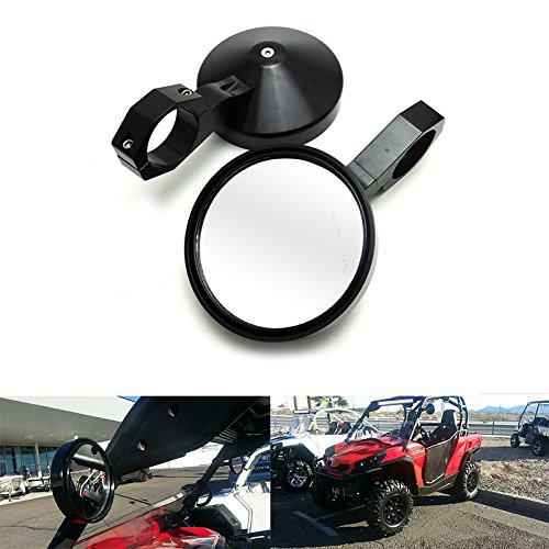 "Motobiker 1.75"" Round Billet Side Rear View Mirrors for 4.7"" Clamp for Can am Commander Maverick for Polaris RZR XP1000 RZR XP 4 UTV"