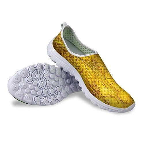 Per Te Disegni Scarpe Da Corsa Sneaker Traspiranti Sneaker Leggere E Unisex Da Donna Unisex Color Giallo 4