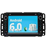 A-Sure 7 Inch Android 6.0 HD Full Touchscreen Car GPS Stereo FM Radio for GMC Sierra Chevrolet Buick Saturn Wifi Mirror Link Bluetooth SWC