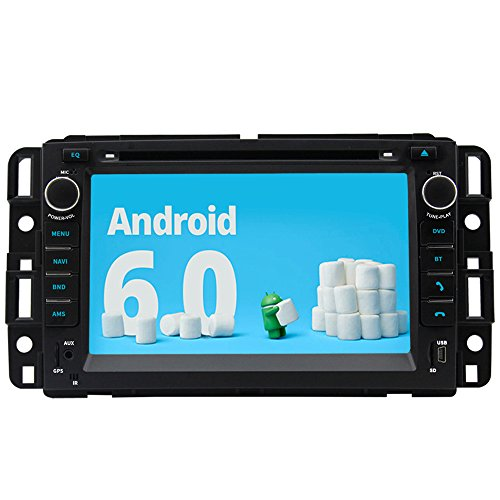 A-Sure 7 Inch Android 6.0 HD Full Touchscreen Car GPS Stereo FM Radio for GMC Sierra Chevrolet Buick Saturn Wifi Mirror Link Bluetooth SWC by A-Sure