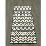 Cheap Ottomanson Studio Collection Chevron Waves Design Runner Rug, 20″ X 59″, Grey