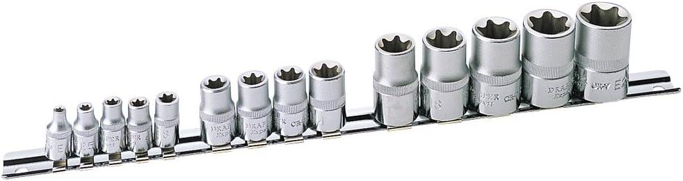 Draper Expert 35381 Set di bussole Torx 14 pezzi