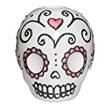 Sugar Skull Taper Candle Holder Day of the Dead, 3.5 Inches