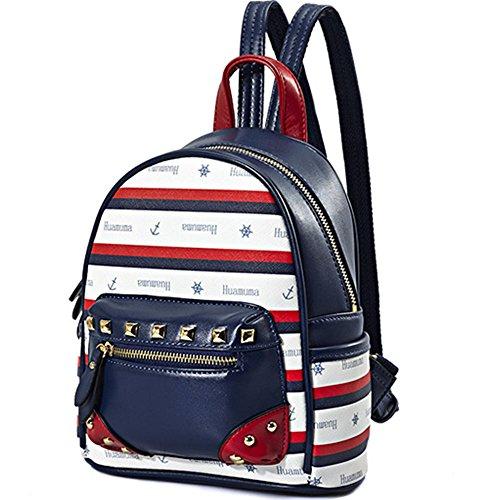 rivet leather PU mini version shoulder backpack leisure New of Korean backpack wa50n0dq