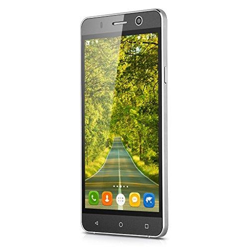 Landvo XM100 3G-Smartphone 5,0'' Zoll Handy Ohne Vertrag IPS HD Screen Quad Core 1.3GHz 1G+8G Dual SIM Dual Kameras Smart Wake GPS WIFI Bluetooth Grau