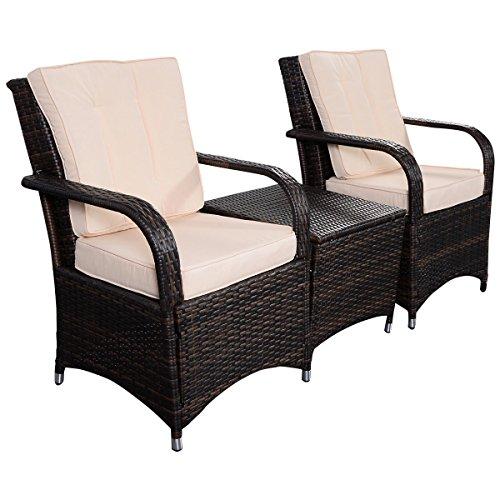Tangkula 3 pcs outdoor patio sofa sets rattan furniture for Outdoor furniture qatar