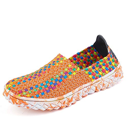 Sitaile Femmes Slip Sur Des Chaussures Tissées En Plein Air Mode Respirant  Casual Sportif Chaussures De