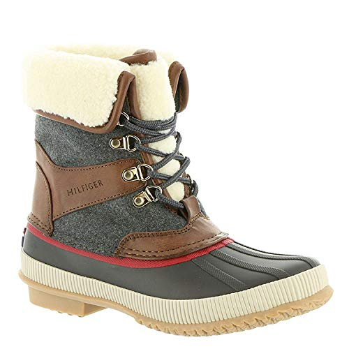 """Tommy Hilfiger Womens Rustee 2"""" Closed Toe Ankle Cold, Olive Pu, Size 6.0"""