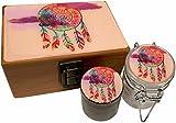 cool airtight jar - Dreamcatcher Stash Box Combo Grinder - Small 4 Part Grinder 2.0