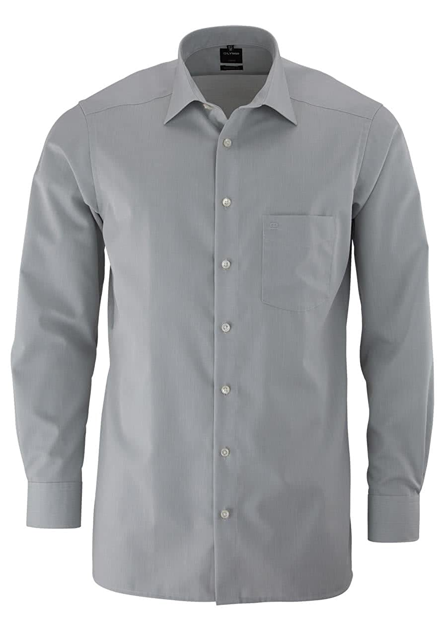OLYMP Hemd slim line, bügelfrei grau New Kentkragen in langarm (64cm) B004DKFS3W Business Im Gegensatz zu dem gleichen Absatz