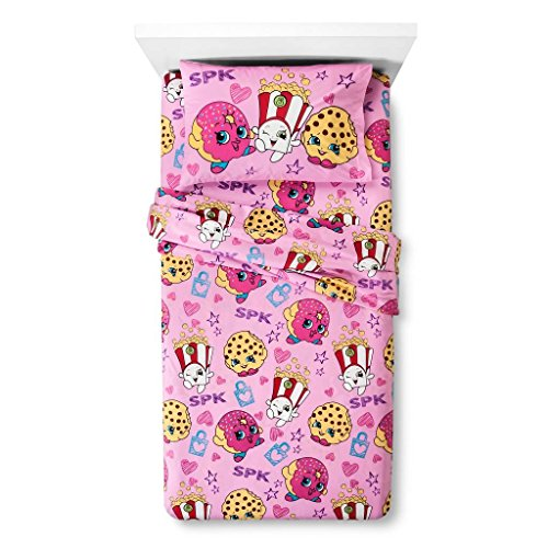 Shopkins Twin Flannel Sheet Set