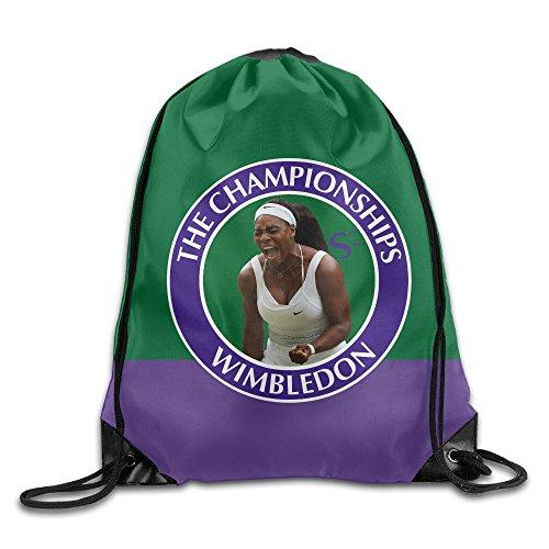 IYaYa Tennis Player Serena Drawstring Backpack Travel Bag
