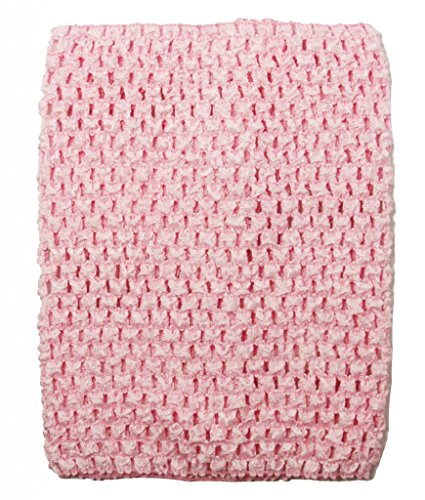 Dress Up Dreams Boutique Wholesale Princess 8 Inch Crochet Top for Kids Sold Individually-Light Pink