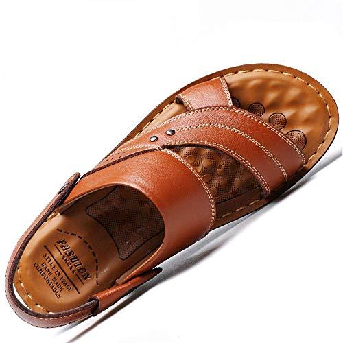 jaune 38 39 40 41 42 43 44 BAIF Yi Xing 2019 été Nouveaux Hommes 's Sandales Hommes' s Chaussures de Plage en Cuir Décontracté Hommes 's Chaussures Mode Pantoufles, Jaune, 38 39 40 41 42 43 44