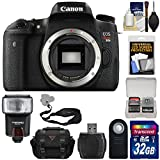 Canon EOS Rebel T6s Wi-Fi Digital SLR Camera Body with 32GB Card + Case + Strap + Flash + Remote + Kit