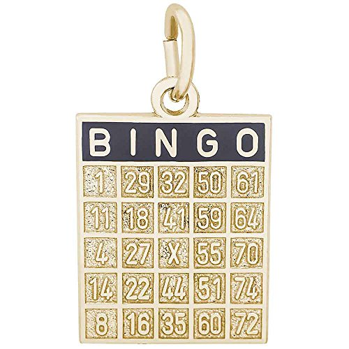 Rembrandt Charms Bingo Card Charm, 14K Yellow (14k Gold Bingo Card Charm)