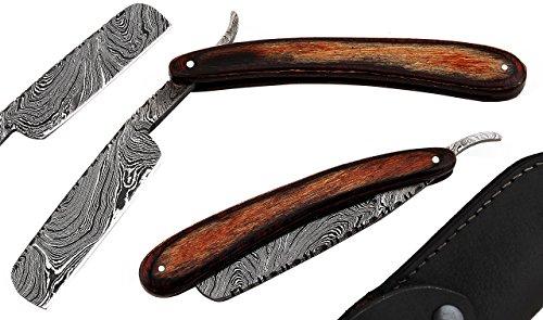 GE-57 Custom Handmade Damascus Steel Shaving Razor - Canvas