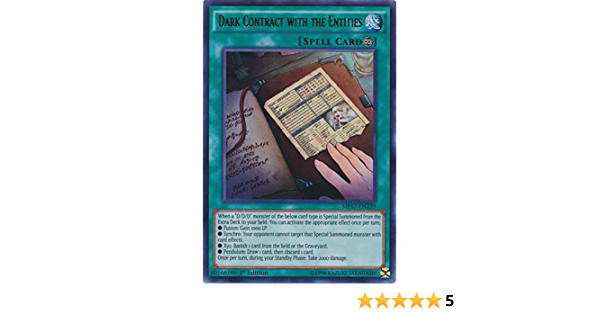 3 x Dark Contract with the Entities MP17-EN239 Ultra Rare 1st Edition YuGiOh NEW