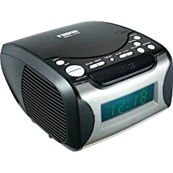 Naxa NAXNRC175B Naxa Digital Alarm Clock with Digital Tuning AM/FM Radio and CD