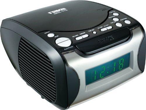 Naxa NAXNRC175B Naxa Digital Alarm Clock with Digital Tuning AM/FM Radio and CD