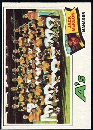 Baseball MLB 1977 Topps #74 Jack McKeon MG Athletics