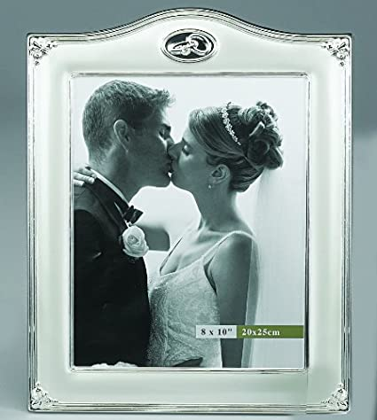 Amazon.com - 8 X 10 WEDDING RINGS FRAME WITH CRYSTAL - Picture Frame ...