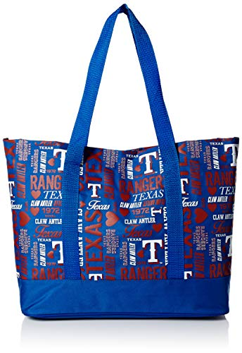 FOCO MLB Texas Rangers Mens Womens Collage TOTEWOMENS Collage Tote, Team Color, One Size