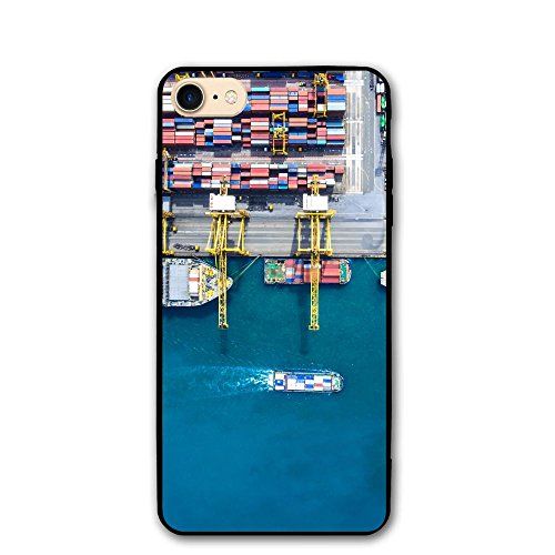 ZhiqianDF Container Container Ship In Import Export And Business Logistic By Crane Trade IPhone 8 Case 4.7 Enhanced Grip Premium Scratch Resistant Protective Cases Hard PC Back Cover For IPhone - Sunglasses Export