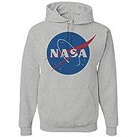 Her Heather Grey NASA Hoodie: Unisex Jerzees Heavyweight Hoodie