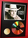 #4: GEORGE STRAIT 24kt GOLD CD/DISC COLLECTIBLE RARE AWARD QUALITY PLAQUE GIFT