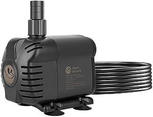 AquaMiracle 230-1160 GPH Submersible Water Pump with Pre-Filter for Aquarium, Fountain Pump, Fish Tank Pump, Pond Pump, Waterfall Pump, Statuary Pump, Water Feature Pump, hydroponics Pump