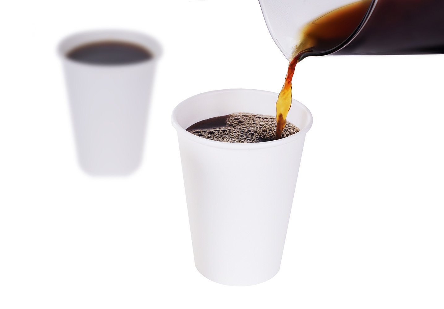 TashiBox 12 oz White Hot Drink Paper Cups - 120 Count - Disposable Paper Coffee Cups by TashiBox (Image #2)