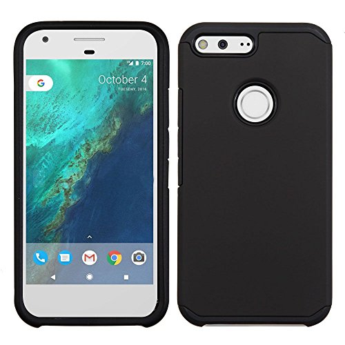 Price comparison product image Asmyna Astronoot Phone Protector Cover for Google Pixel XL - Black/Black