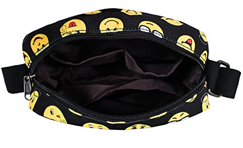 Tibes Zaino Scuola Elementare Bambina Cartella Scuola Zaino In Tela Schoolbag Espressione Zaino Borse Scolastiche C nero 1 (insieme 2 pezzi)
