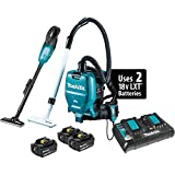 vacuum backpack battery - Makita XT278PTX1 18V (5.0Ah) LXT Lithium-Ion Cordless 2-Pc. Vacuum Combo Kit