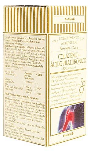 ProNutri Colágeno y Acido Hialuronico - 2 Paquetes de 30 Cápsulas