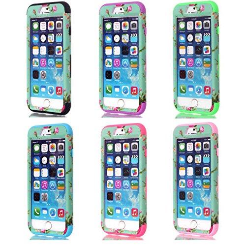 iPhone 6s hülle, iPhone 6 hülle, Lantier Hybrid Heavy Duty Rugged Hard Case mit harter PC + Innen Silikon Shell Shockproof Abdeckung für Apple iPhone 6 / 6S 4,7 Zoll (Blüte violett)