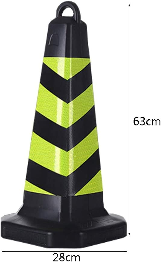 AJZXHE Conos de Seguridad Conos de Advertencia de tráfico de Coches Cono Guardias Negros Aparcamiento Highway Traffic Safety Conos señalizacion (Size : 5pcs): Amazon.es: Hogar