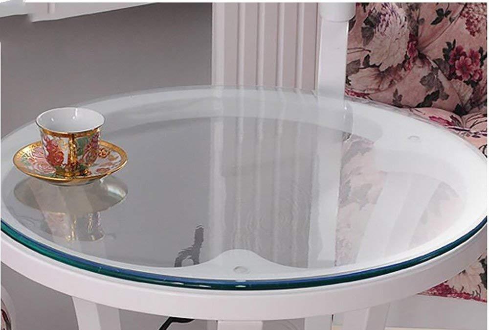 BOSSLV Küche Dinning Tischplatte Tischdecke Tischdecke Tischdecke Tischdecke Weichglas Transparente Runde Tischdecke Wasserdichte PVC Tischsets Europäische Amerikanische Mehrzweck Innen- und Außenbereich B07P82K9S2 Tischdecken 0138e8