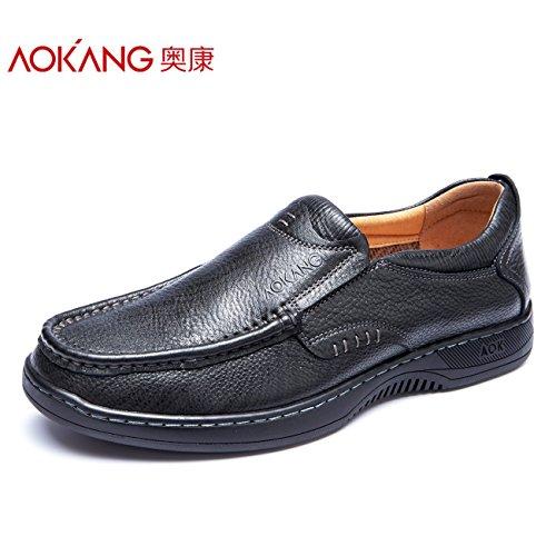 Aemember À L'automne Des Hommes Portant Des Chaussures Confortables Paresseux Low-cut Et Souliers Faciles Chaussures Chaussures D'affaires, 42, Noir