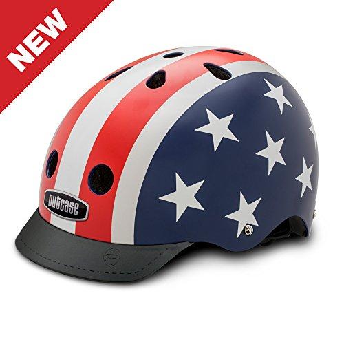 Nutcase Patterned Street Bike Helmet for Adults, Stars & Stripes, - Street Helmets Bikes Stars