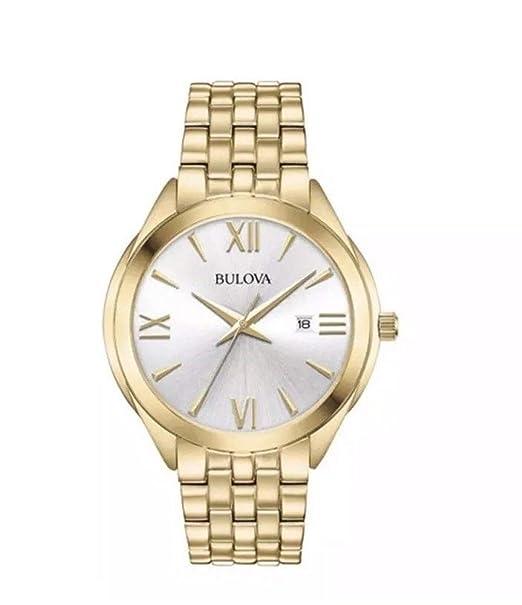 Bulova Reloj Analógico para Mujer de Cuarzo con Correa en Acero Inoxidable 97L160: Amazon.es: Relojes